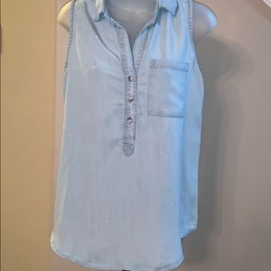 Thread & Supply chambray top